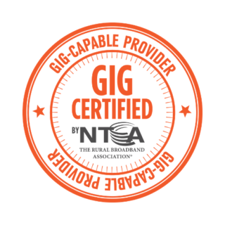 Gig-Cable Provider Seal from the NTCA