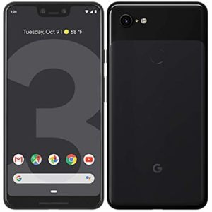 Image, front and back of a Google Pixel 3