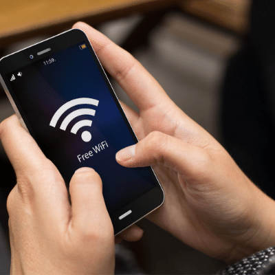 Image of indicating Wi-Fi on a mobile device
