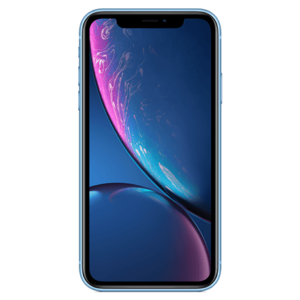 Image of the front of an iPhone XR