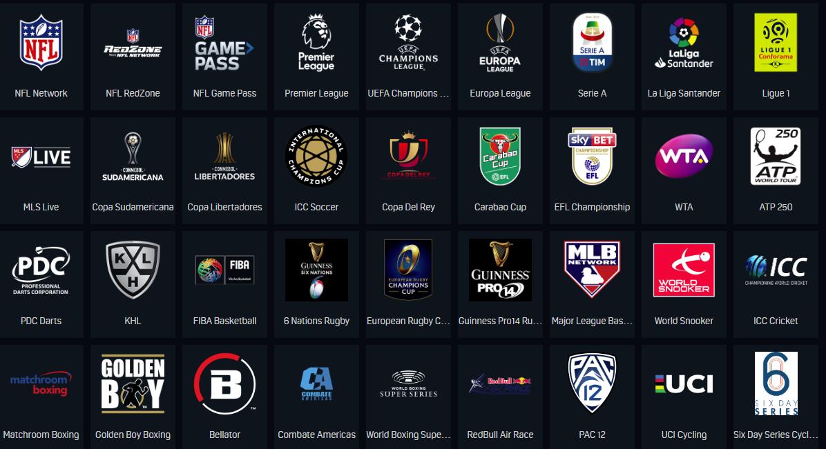DAZN Sports channels