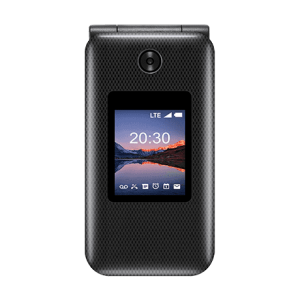 Image of the front of the ZTE Cymbal 2 Black flip phone
