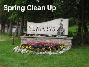 Image of the Town sign for St. Marys Ontario Spring Clean Up post