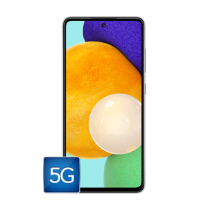 Front of the Samsung A52 5G phone